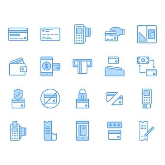 Zestaw ikon karty kredytowej