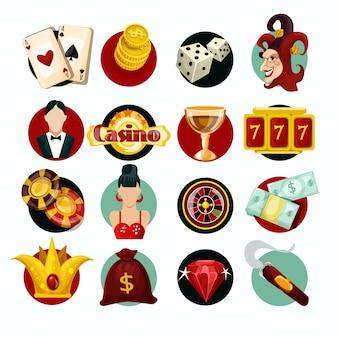 Zestaw ikon kasyna