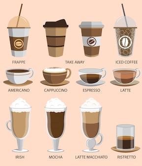 Zestaw ikon kawy