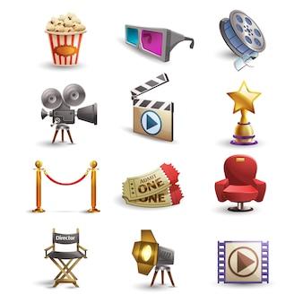 Zestaw ikon kina