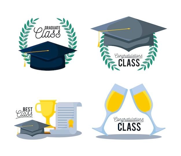 Zestaw ikon klasy graduation