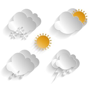 Zestaw ikon klimatycznych