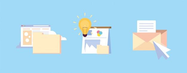Zestaw ikon kodu witryny, elementów interfejsu użytkownika i obiektów przepływu pracy