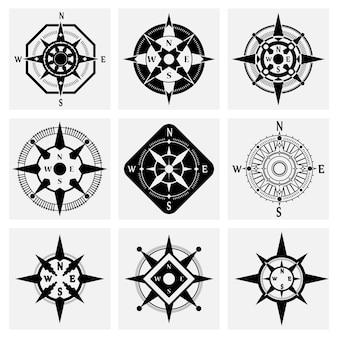 Zestaw ikon kompasu