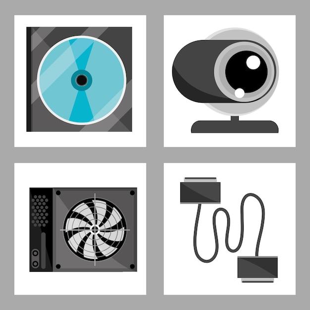 Zestaw ikon komputerowych