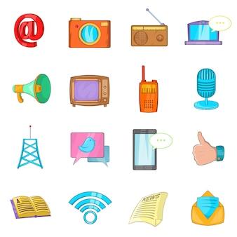Zestaw ikon komunikacji
