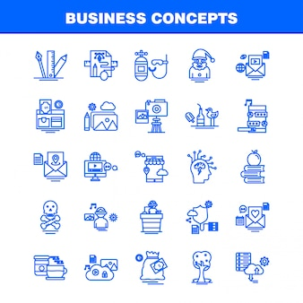 Zestaw ikon koncepcji biznesowych