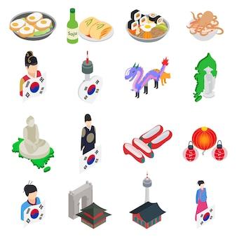 Zestaw ikon korei