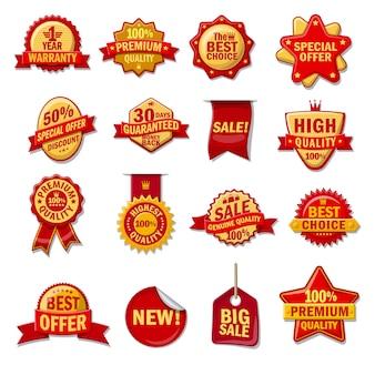 Zestaw ikon kreskówka gwarancja, gwarancja i certyfikat.