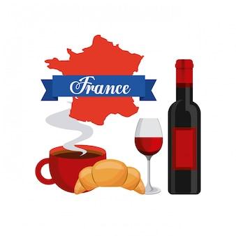 Zestaw ikon kultury francuskiej