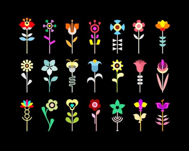 Zestaw ikon kwiat