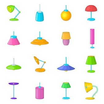 Zestaw ikon lampy