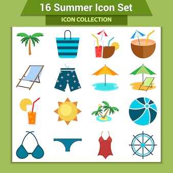 Zestaw ikon lato