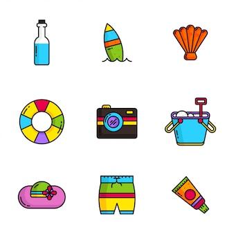 Zestaw ikon letnich