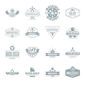 Zestaw ikon logo cząsteczki