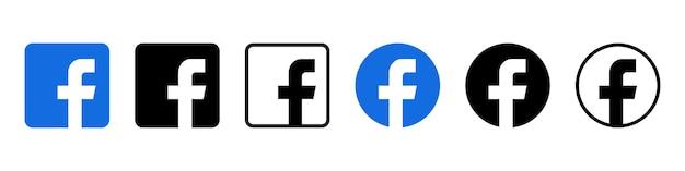 Zestaw ikon logo facebooka. obraz redakcyjny. winicja, ukraina. 24 sierpnia 2021