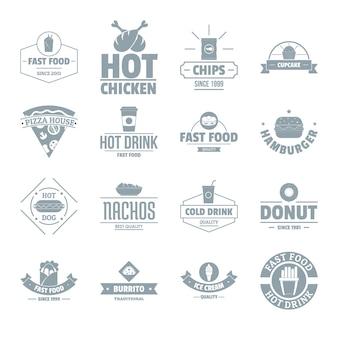 Zestaw ikon logo fast food