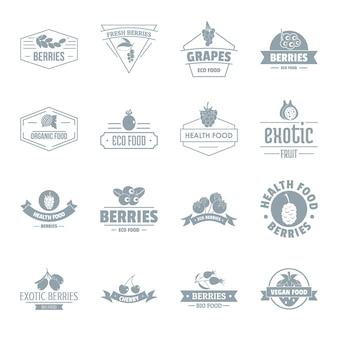 Zestaw ikon logo jagody
