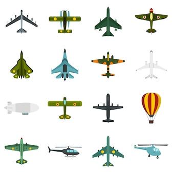 Zestaw ikon lotnictwa