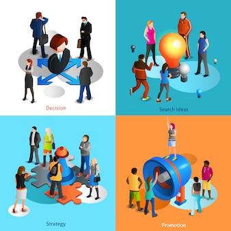 Zestaw ikon ludzi biznesu