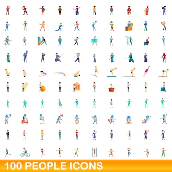 Zestaw ikon ludzi, stylu cartoon