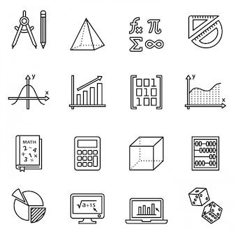 Zestaw ikon matematyki