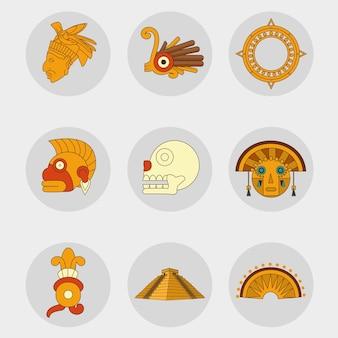 Zestaw ikon maya