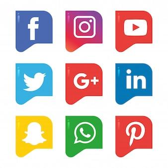 Zestaw ikon mediów społecznych. logo