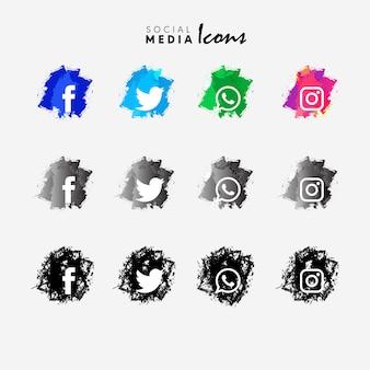 Zestaw ikon mediów społecznych