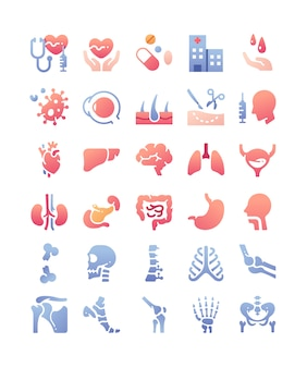 Zestaw ikon medycznych