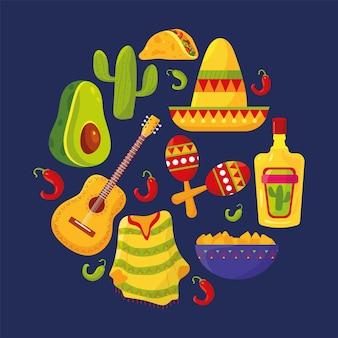 Zestaw ikon meksykańskich