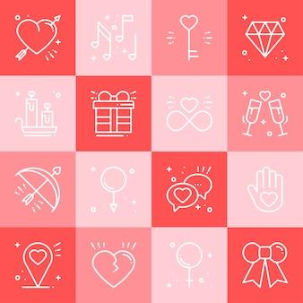 Zestaw ikon miłości.