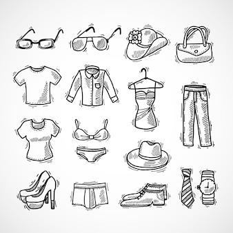 Zestaw ikon mody