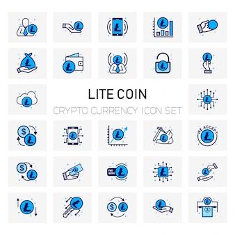 Zestaw ikon monet coin crypto