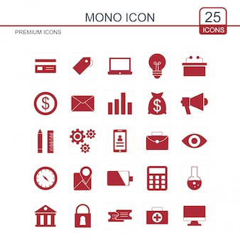 Zestaw ikon mono