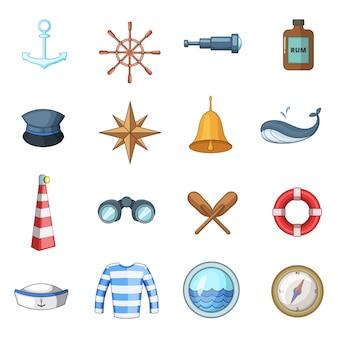 Zestaw ikon morskich