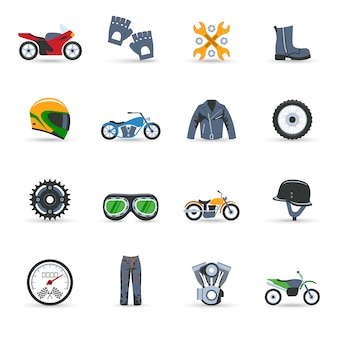 Zestaw ikon motocykli