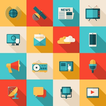 Zestaw ikon multimedialnych