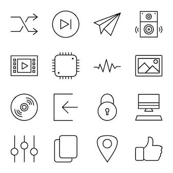 Zestaw ikon multimediów