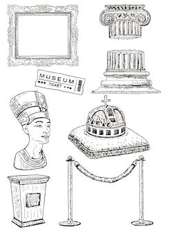 Zestaw ikon muzeum