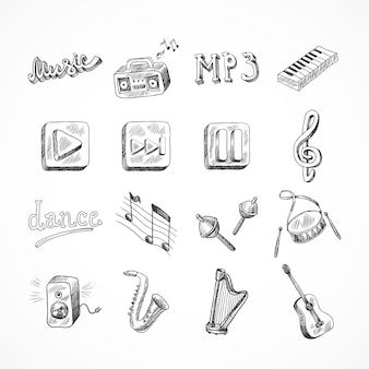 Zestaw ikon muzyki