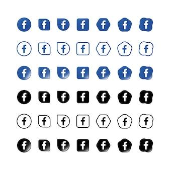 Zestaw ikon na facebooku