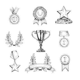 Zestaw ikon nagród