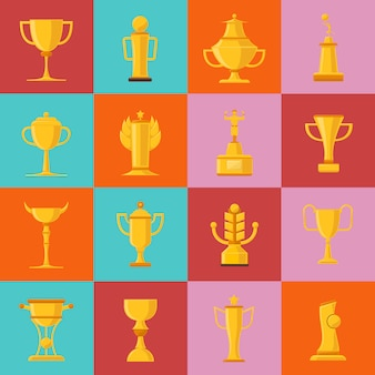 Zestaw ikon nagrody