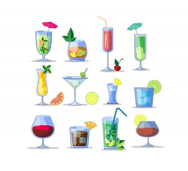 Zestaw ikon napojów alkoholowych