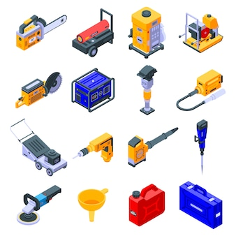Zestaw ikon narzędzi benzyny