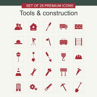 Zestaw ikon narzędzi i konstrukcji