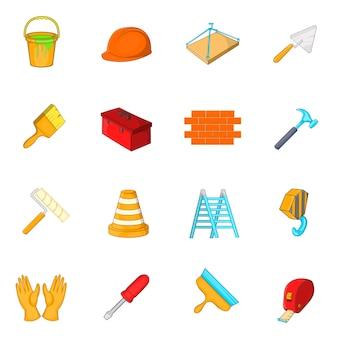 Zestaw ikon narzędzi roboczych