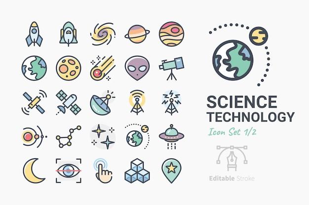 Zestaw ikon nauki i technologii