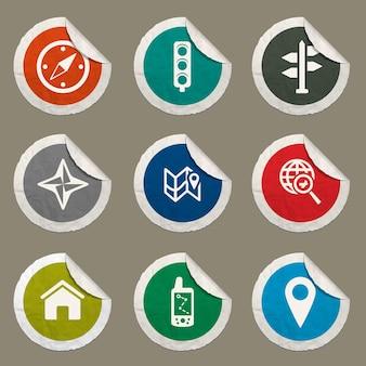 Zestaw ikon nawigacji dla stron internetowych i interfejsu użytkownika